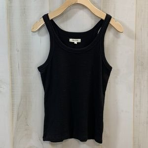 Madewell Solid Black Tank Top Sleeveless Size XS